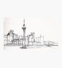 Auckland Silhouette Photographic Print