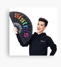 James Charles Rainbow Sisters Merch Canvas Print