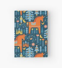 Fairy Tale in Blue + Orange Hardcover Journal