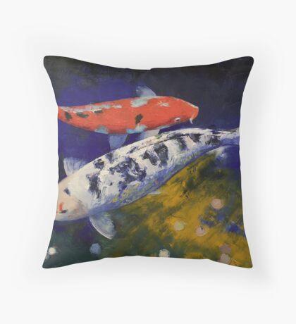 Bekko Koi Fish Throw Pillow