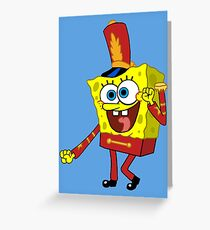 That's His Eager Face - Spongebob Greeting Card