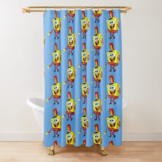 That's His Eager Face - Spongebob Shower Curtain