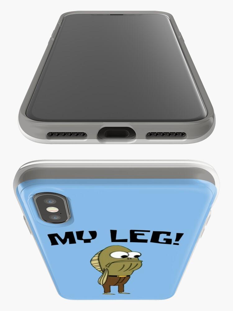 Vista alternativa de Funda y vinilo para iPhone Fred The Fish: ¡Mi pierna! - Bob Esponja