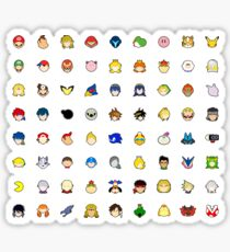 Super Smash Bros Ultimate Character Stock Icons STICKER PACK! Sticker