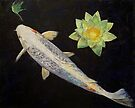 Platinum Ogon Koi by Michael Creese