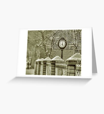Cortelyou Clock Greeting Card