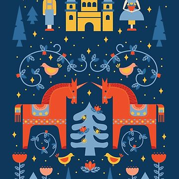 Scandinavian Inspired Fairy Tale in Blue by latheandquill