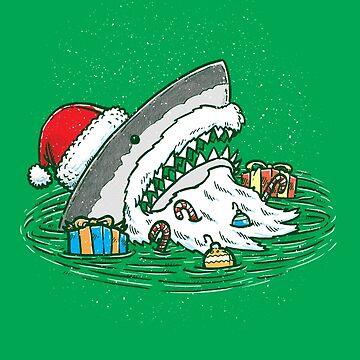 The Santa Shark by nickv47