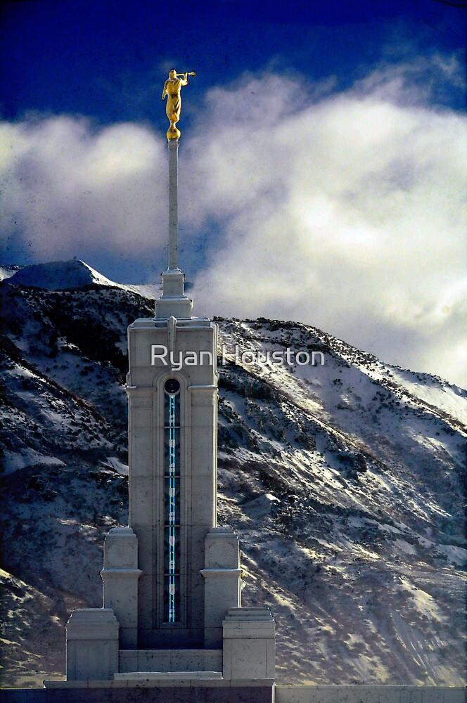 Mount Timpanogos Temple - Snowy Day by Ryan Houston