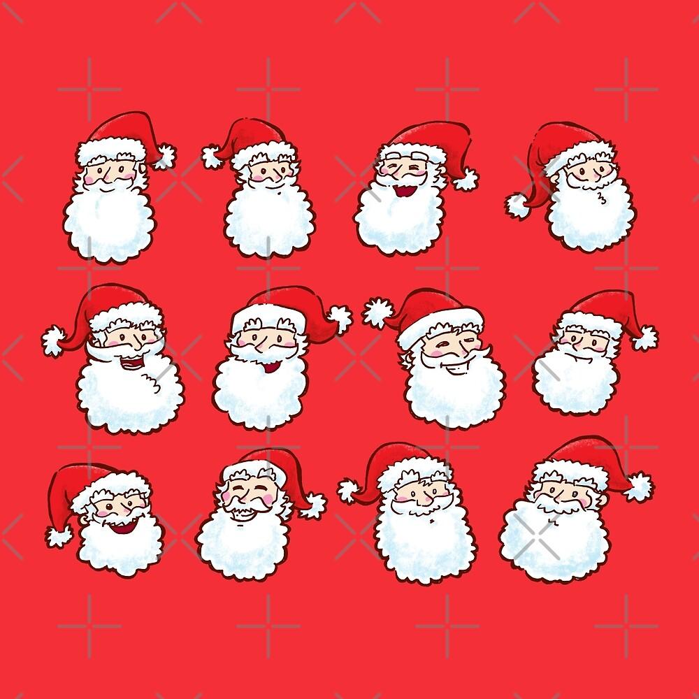 12 Santas by nickv47