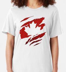 Canada Red Leaf Slim Fit T-Shirt