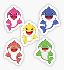 Baby Shark and Family - Pink Pastel Version Sticker