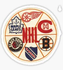 NHL original 6 Boston Bruins, Chicago Black Hawks, Detroit Red Wings, Montreal Canadiens, New York Rangers, and Toronto Maple Leafs. Sticker
