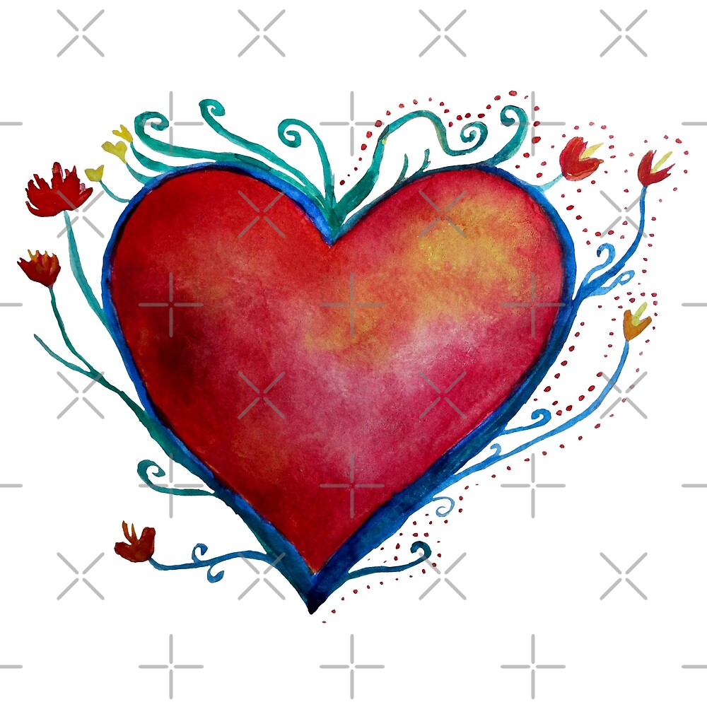 Red Heart  by Manitarka