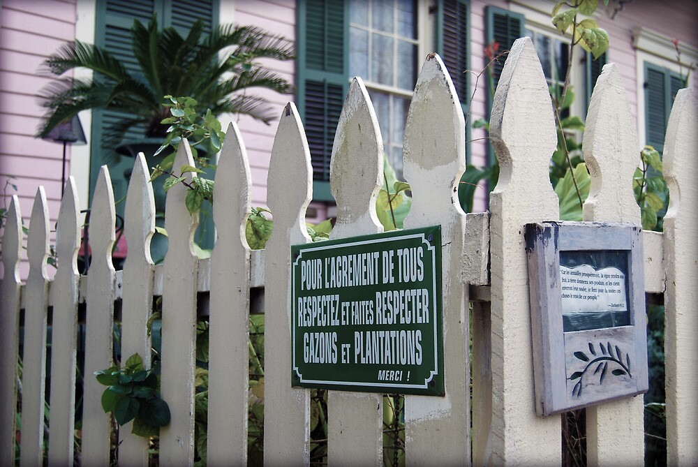 French Fence of Cajun Algiers Home by francierose