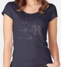 Pioneer Plaque Women's Fitted Scoop T-Shirt