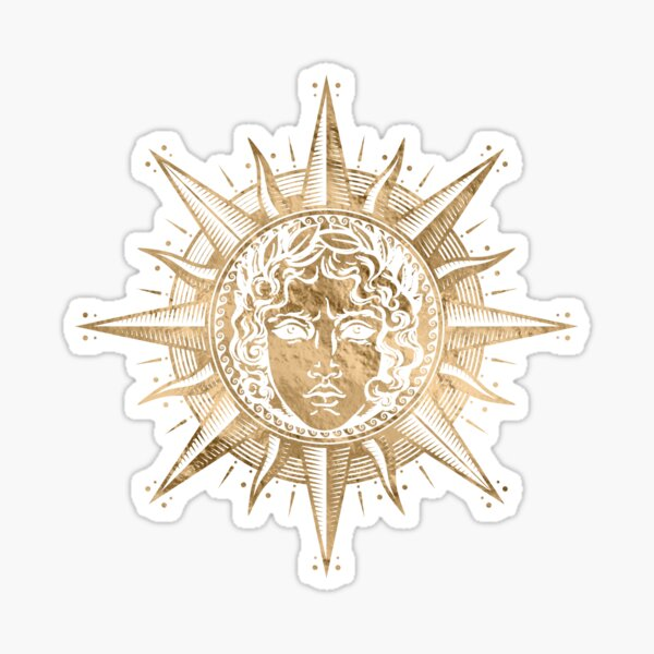 Golden Apollo Sun God  Sticker