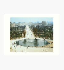 FROM LA ROUE DE PARIS ON BOXING DAY Art Print