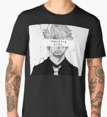 One Piece Sanji - 'Smoking Kills' Aesthetic Men's Premium T-Shirt