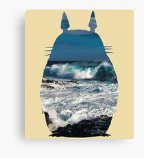 Totoro Ocean Side Canvas Print