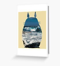 Totoro Ocean Side Greeting Card