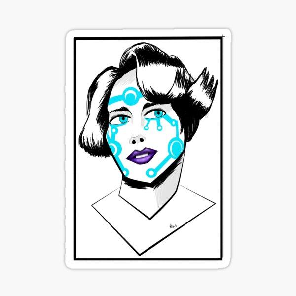 CYBER GIRL Sticker