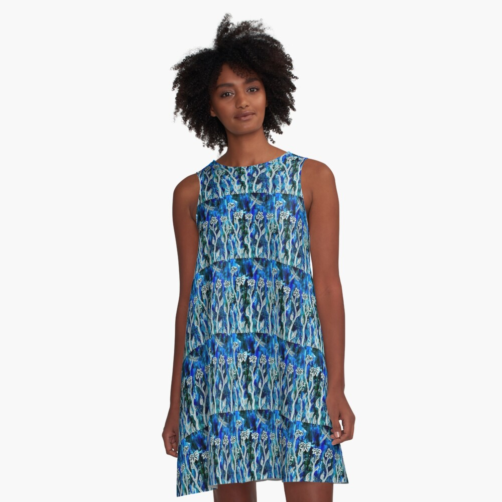 Hope Blooms Here  A-Line Dress