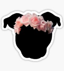 Flower Crown Pittie Sticker