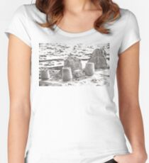 SANDSCAPE (Dillon Beach, California) Fitted Scoop T-Shirt