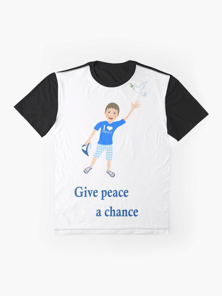 Alternate view of White Dove - Peace Statement  - Give peace a chance Graphic T-Shirt