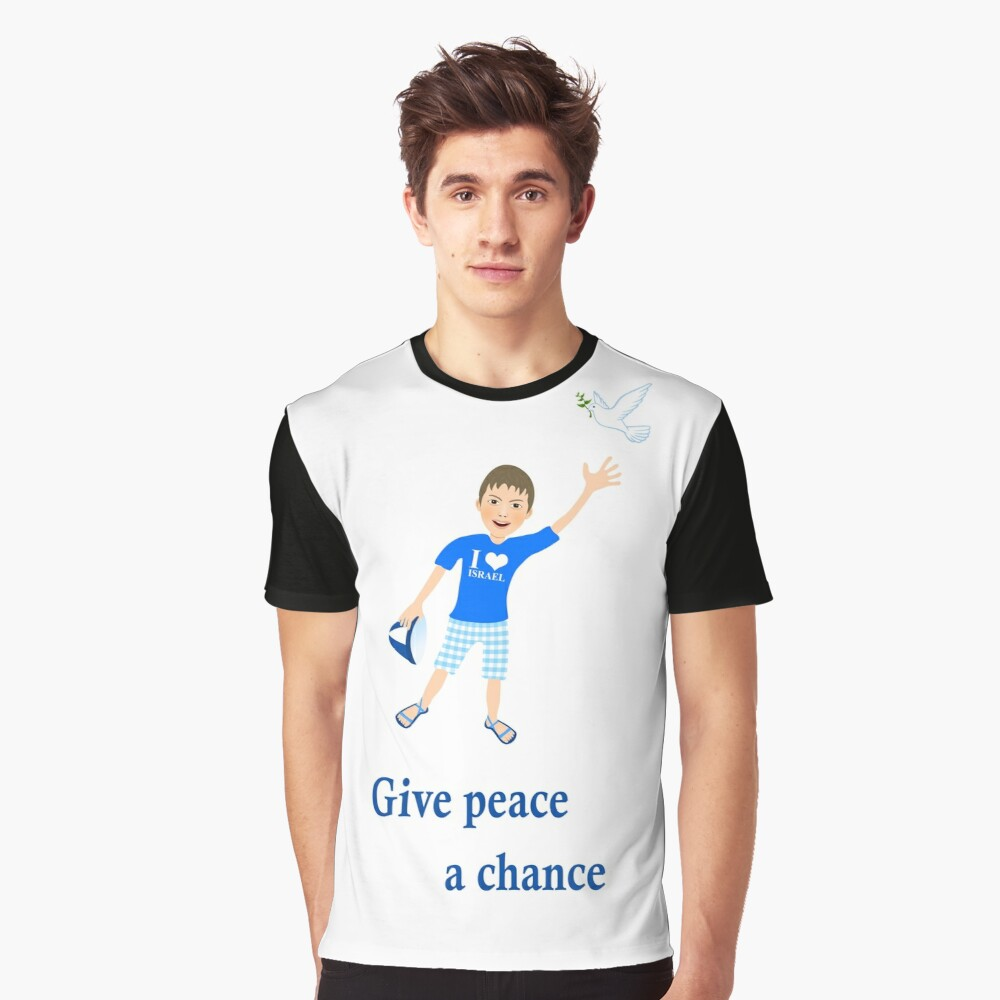 White Dove - Peace Statement  - Give peace a chance Graphic T-Shirt