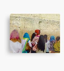 WHISPERED PRAYERS (Western Wall, Jerusalem Israel) Metal Print