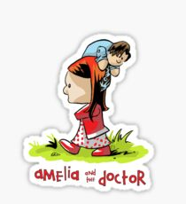 Amelia and the Doctor Sticker