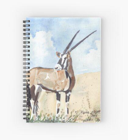 Rapier horns - Gemsbuck Spiral Notebook