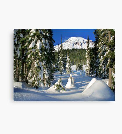 Mount Rainier Winter  Canvas Print