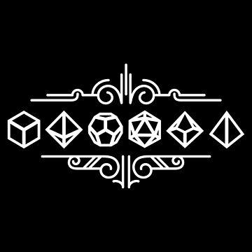 Minimalist Dice Set Ornament Tabletop RPG Addict by pixeptional