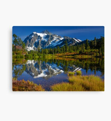 Picture Lake Fall Color Canvas Print