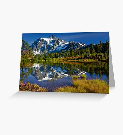 Picture Lake Fall Color Greeting Card