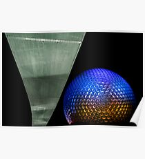 Night at Epcot - Spaceship Earth Poster