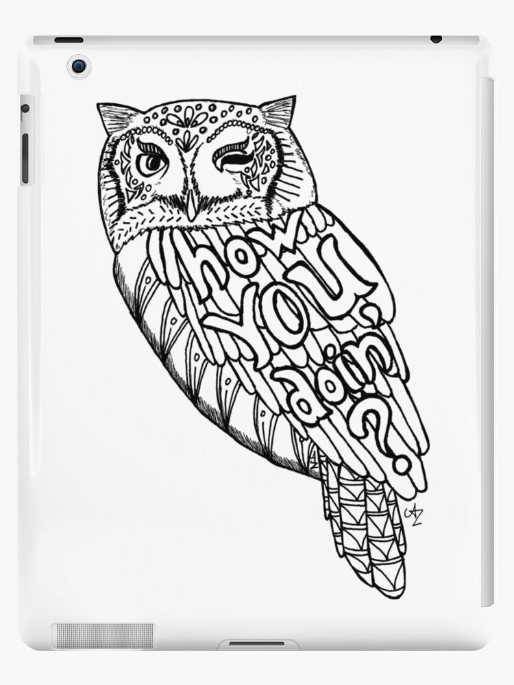 Winking Owl 2 Ipad Cases Skins By Legendofzeldy
