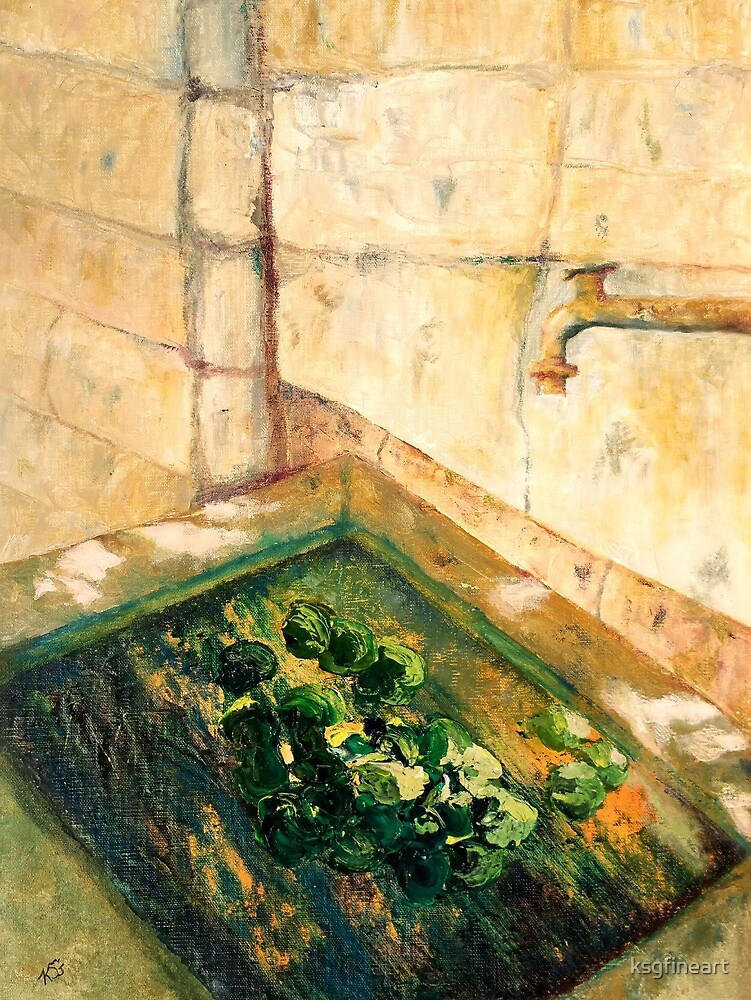 Tuscan Water Garden by ksgfineart