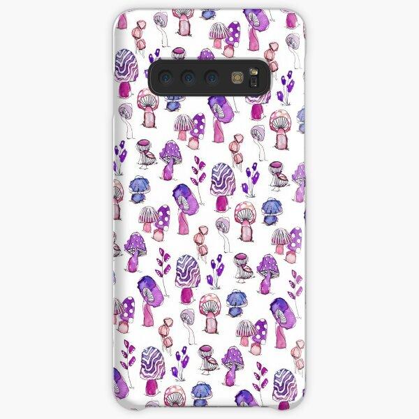 Purple Mushroom Garden Pattern  Samsung Galaxy Snap Case