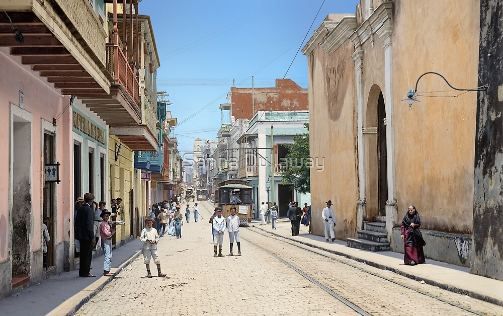 Old San Juan, Puerto Rico ca 1900 by Sanna Dullaway