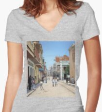 Old San Juan, Puerto Rico ca 1900 Women's Fitted V-Neck T-Shirt