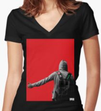 Hitchhiker Women's Fitted V-Neck T-Shirt