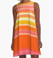 Sablo Lio Orange A-Line Dress