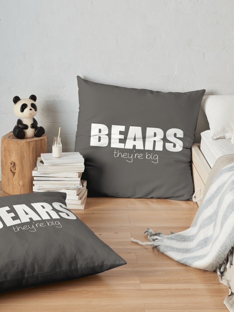 Alternate view of BEARS - they're big Floor Pillow