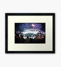 Sydney New Years Eve 2010 Framed Print