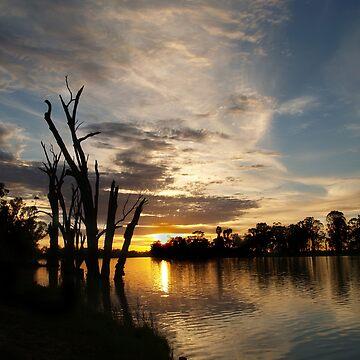 River Murray Sunrise, Berri, South Australia by jembot