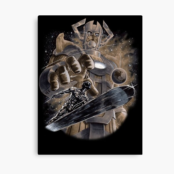 Silver Surfer & Galactus  Canvas Print